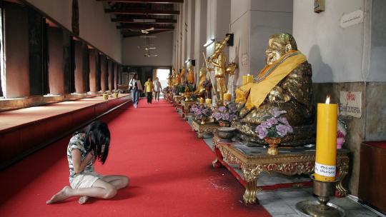 Deze tempel staat in de hoofdstad van Thailand: Bangkok.