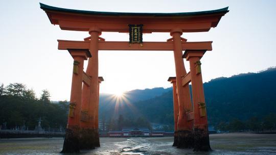 Een Japanse torii-poort