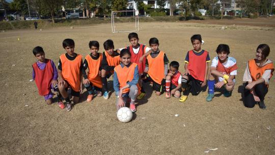 Gemengde voetbalteams bestaan nog niet in Pakistan.