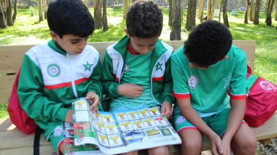 Ali spaarde de plaatjes van alle teams die meededen aan het WK 2018.
