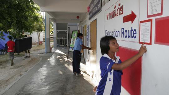 Na de tsunami kwam er een plan wat eilandbewoners bij een volgende vloedgolf moeten doen.