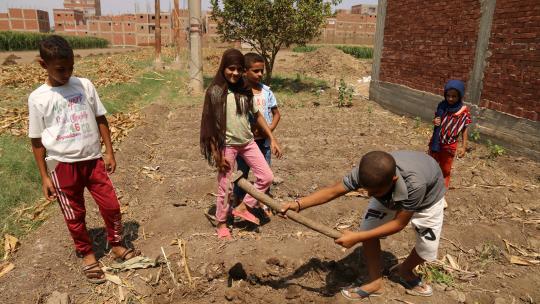 Mahmoud wil later ook graag boer worden.