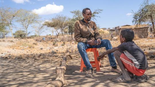 De oom van Adam uit een dorpje op het platteland van Ethiopie is verhalenverteller.
