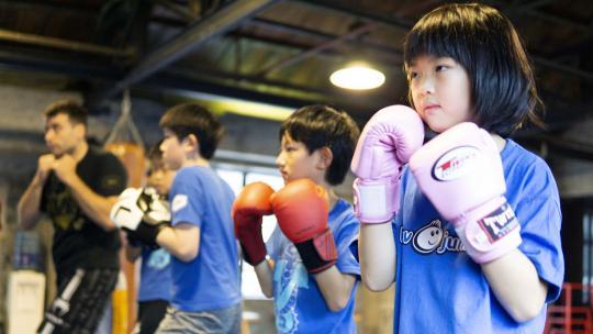 In haar vrije tijd gaat Alexandra uit Shanghai naar boksles.