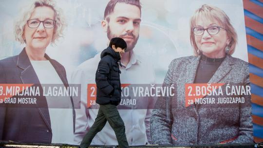 Tijdens de verkiezingen in Bosnië en Herzegovina voeren politieke partijen flink campagne.