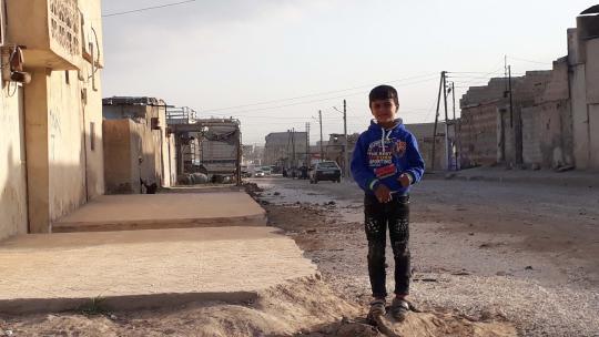 Majd uit Syrie vluchtte voor het oorlogsgeweld, maar woont nu weer in zijn eigen stad Raqqa.