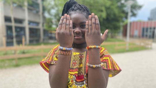 De familie van Nissi woont in het noorden van Ghana.