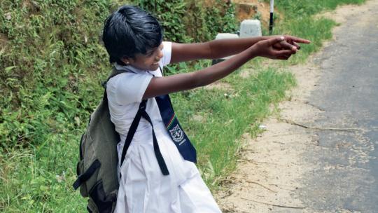 Anjalee uit Sri Lanka wil later bij de politie.