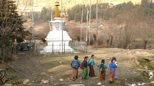 Een stoepa in Bhutan.