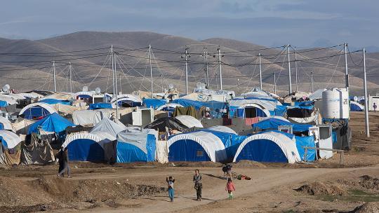 Vluchtelingen uit Syrië worden opgevangen in Irak.