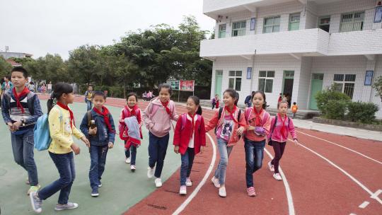 Xin Ya en haar vriendinnen.