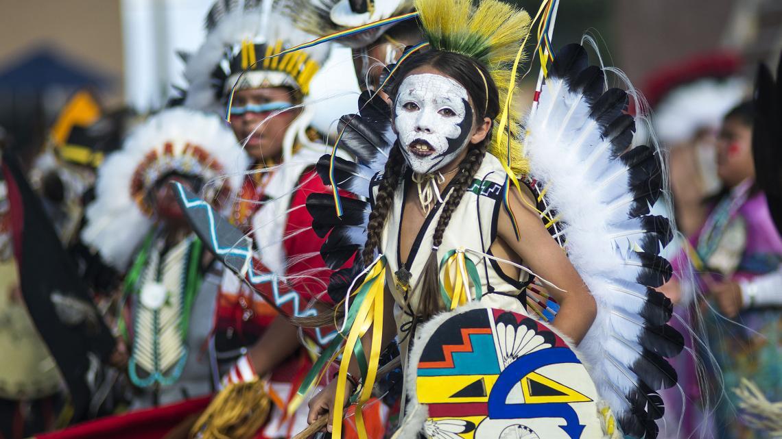 Lauren (12) is Ohkay Owingeh, één van de 19 volken die bij het Pueblo-volk horen.