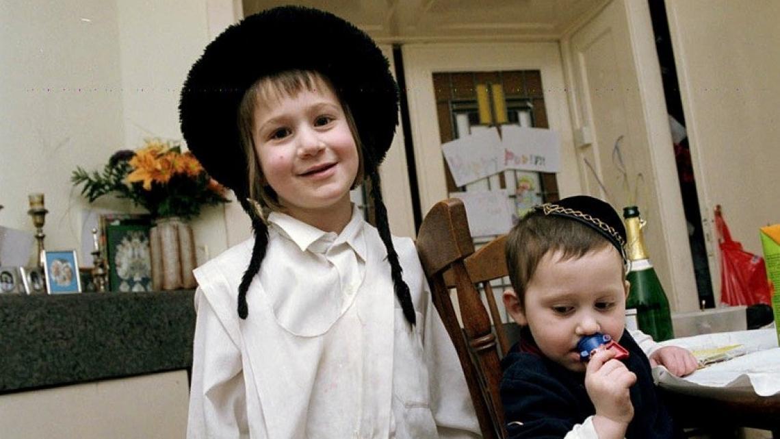 Jongetjes in een orthodox joods gezin.