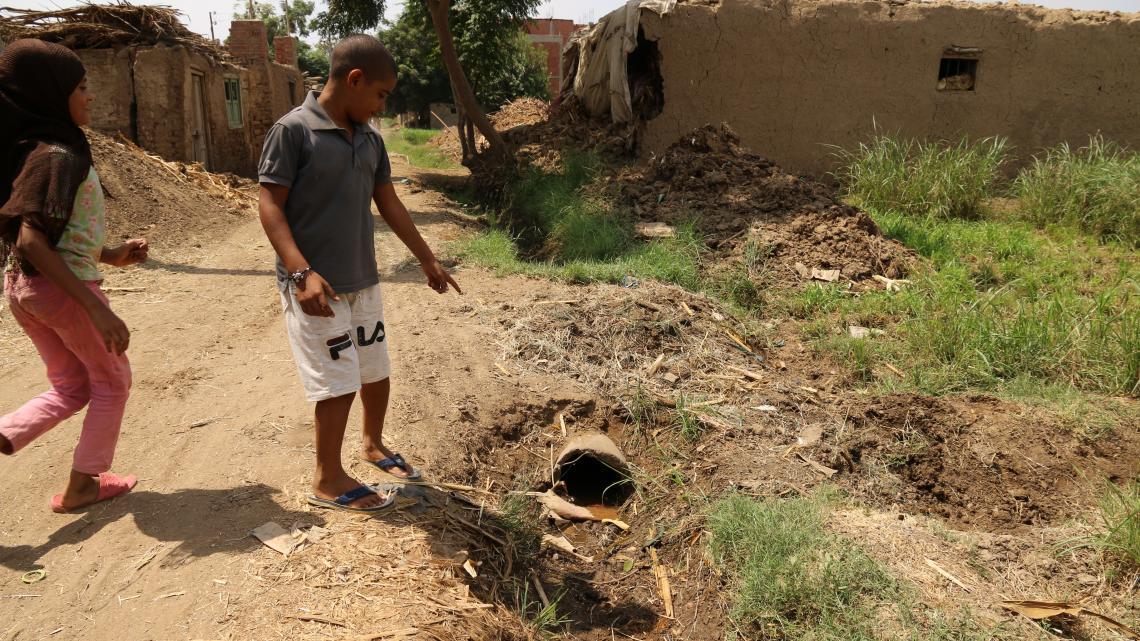 Het grondwaterpeil in het dorp van Mahmoud zakt steeds verder.