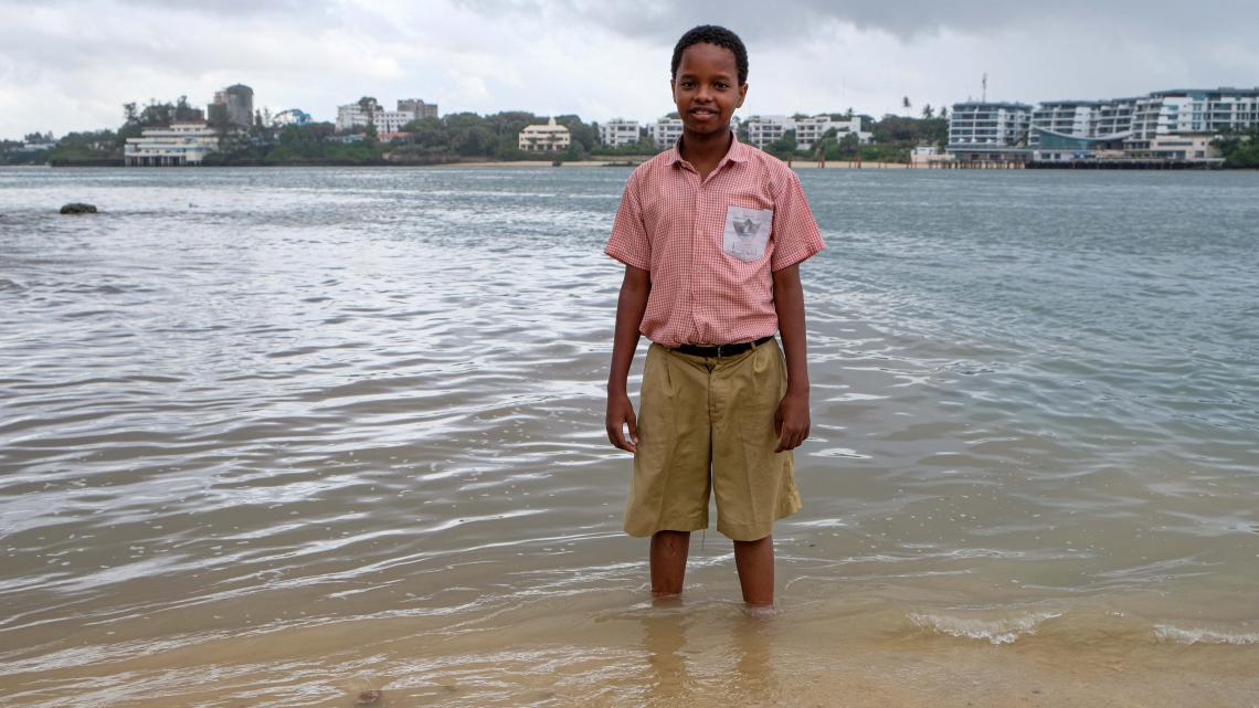 Swabir merkt aan de kust van Kenia wel dat de zeespiegel stijgt.