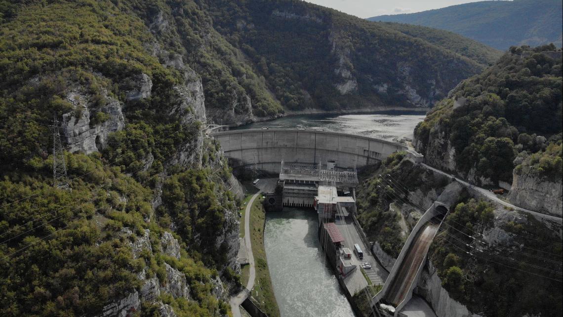 De waterkrachtcentrale in Bosnië en Herzegovina.