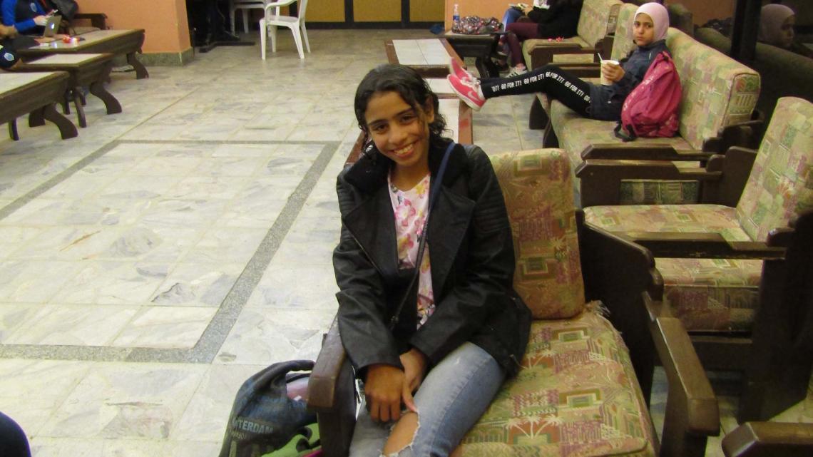 Haya woont in de hoofdstad van Egypte.
