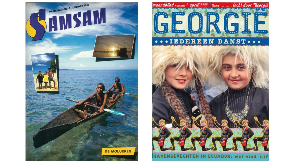 De covers van Samsam uit 1995 en 2005