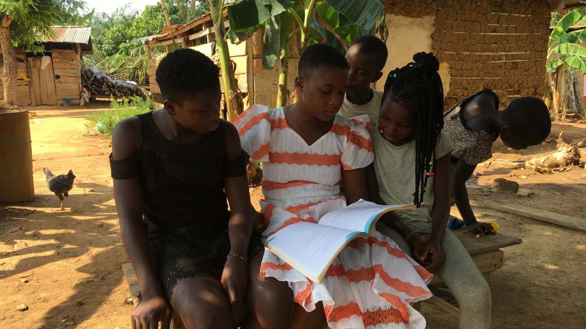 Er is een kans dat Nancy uit Ghana later zelf dorpshoofd wordt.