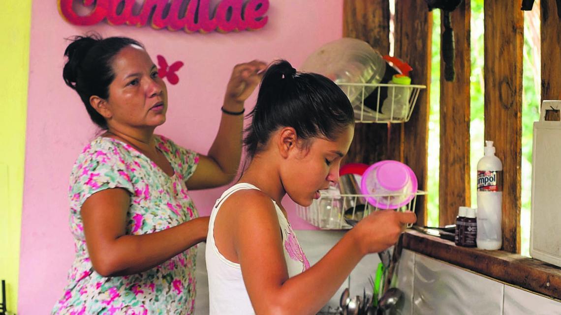 Hévila voelt zich thuis in het Amazonegebied van Brazilië.