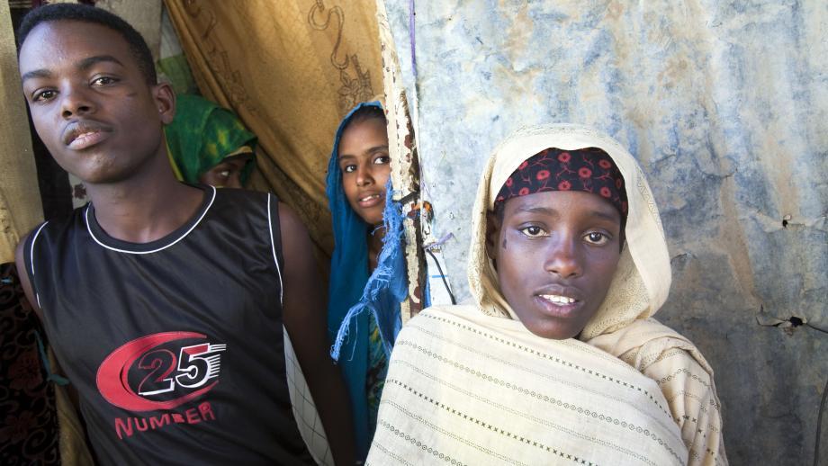 Mariam vluchtte voor de hongersnood in haar land Somalië.