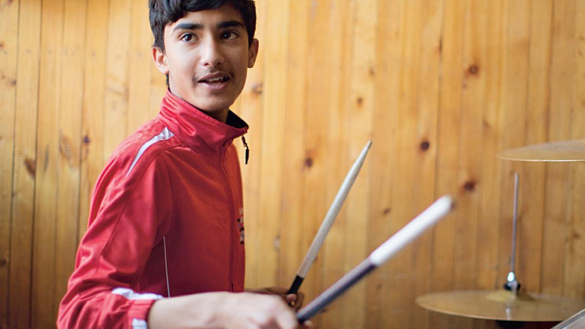 """Ramin: """"Als ik muziek maak, bestaan alleen mijn instrument en ik."""""""