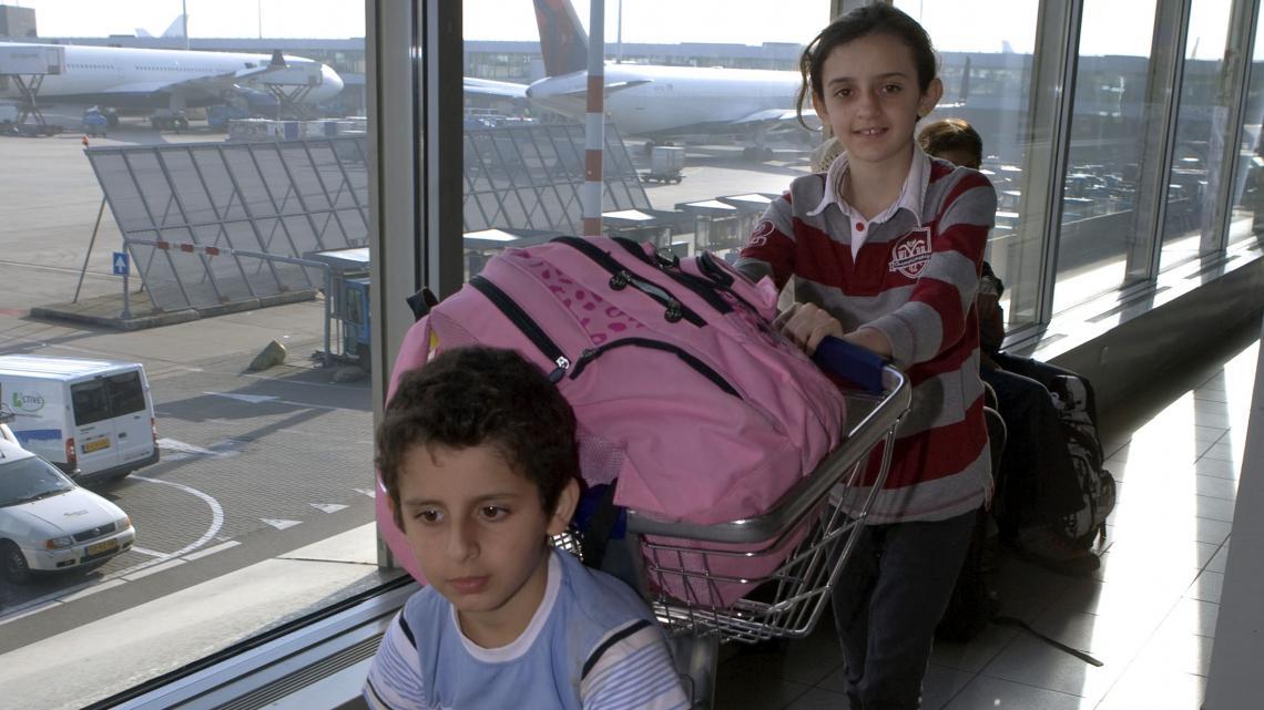 Reem en haar broertje zijn gewend aan reizen en verhuizen.