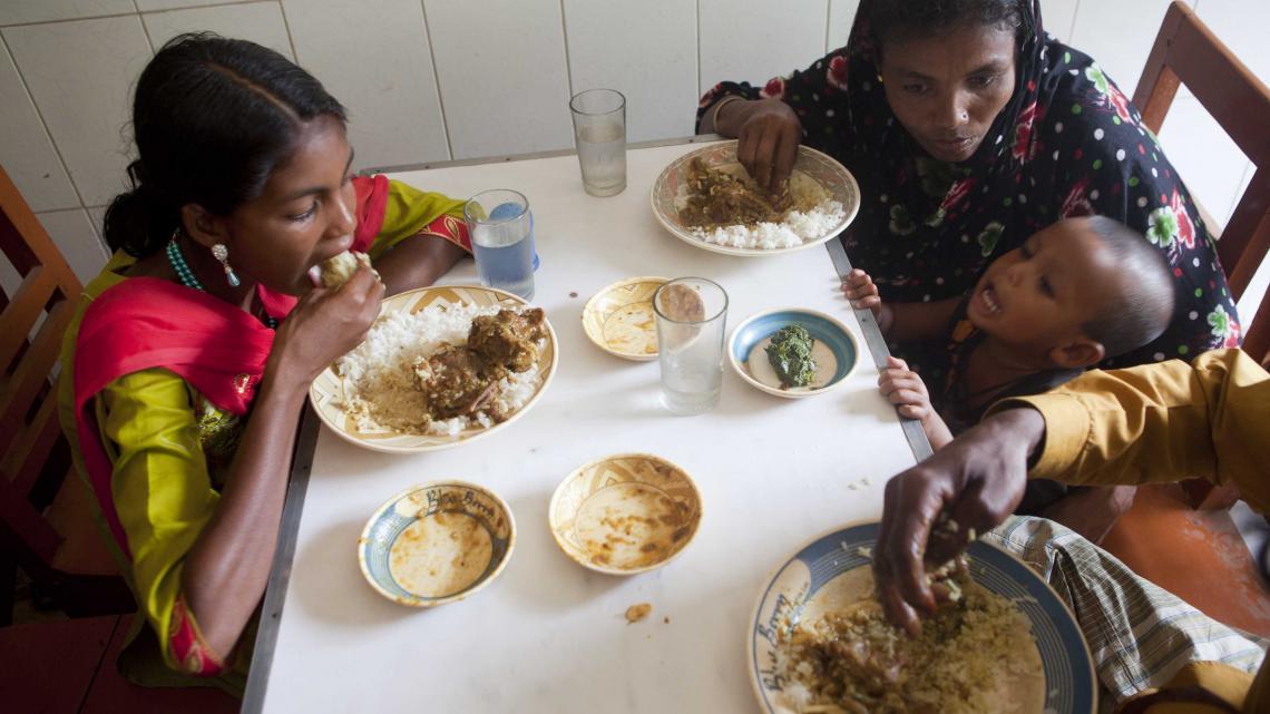 In Bangladesh staat elke dag rijst op het menu