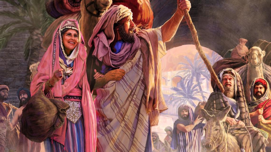 Abram en Sarai op reis