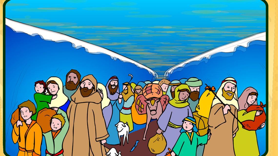De Israëlieten vluchten uit Egypte.