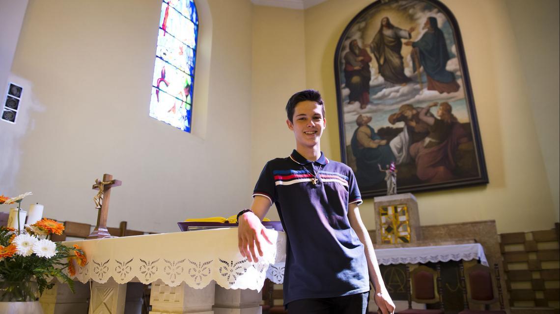 Ivan woont in Bosnië Herzegovina. Dit is zijn kerk.