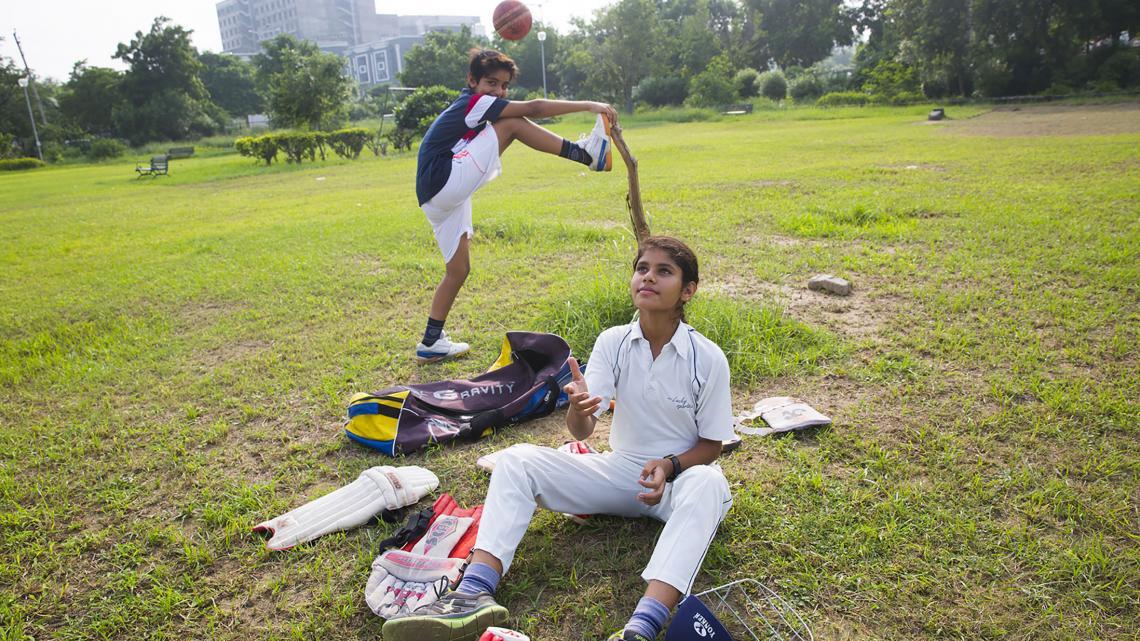 India_meisjesrechten_warmingup
