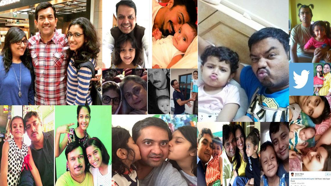Na een oproep van de Indiase premier op Twitter, stuurden duizenden vaders een selfie met hun dochter.