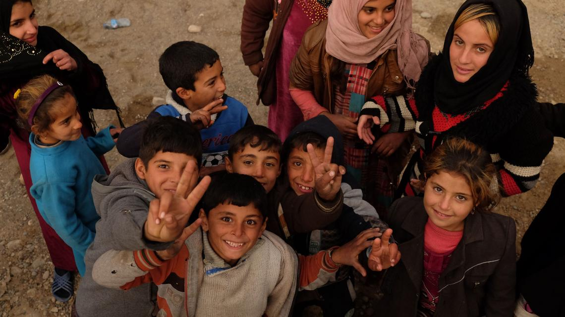 Er wonen nog 600.000 kinderen in de stad Mosul.