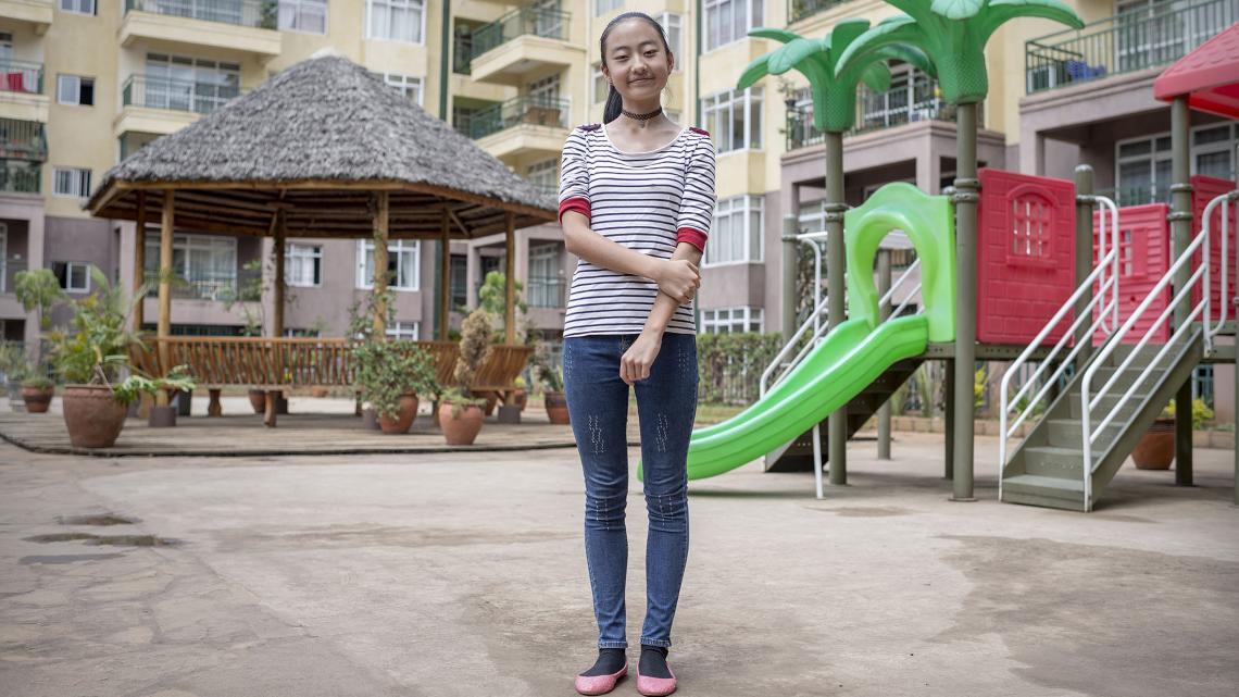 Kelly Ying woont in een flat met alleen Chinezen.