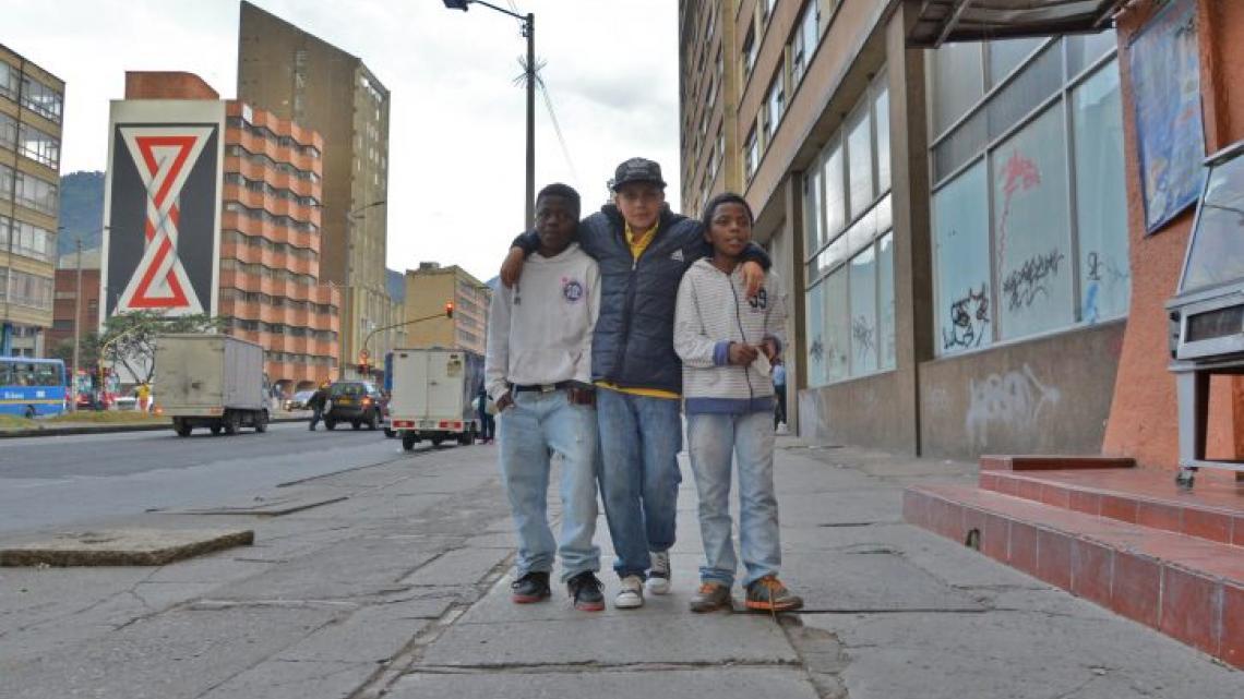 Andres en Yesid leven op straat.