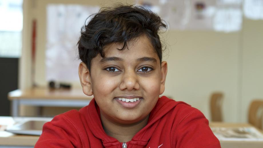 Jay (11) eet geen rundvlees omdat hij hindoe is.