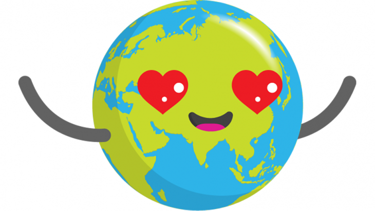 Globy met hartjesogen