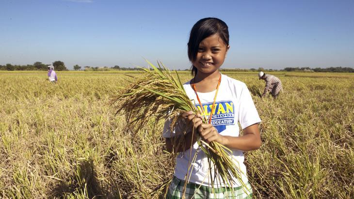 Lecyriel woont op de Filipijnen waar veel rijst wordt verbouwd.
