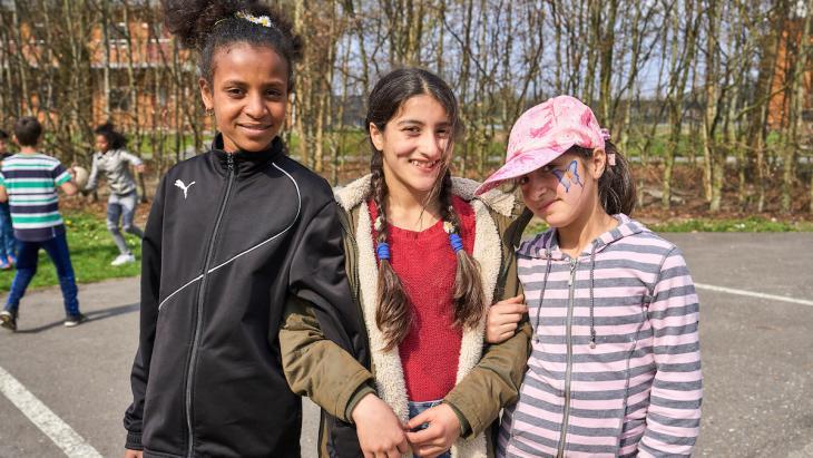 Ghatoun met haar beste vriendinnen