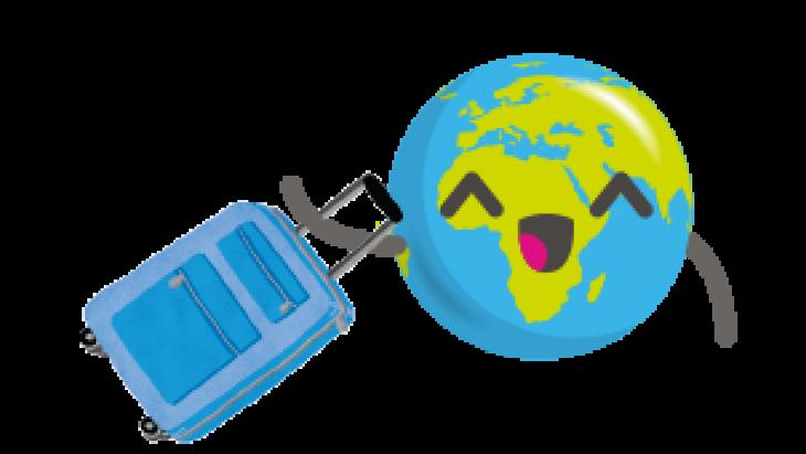 Globy met koffer