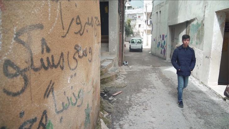 Mohammed woont in een vluchtelingenkamp voor Palestijnen.