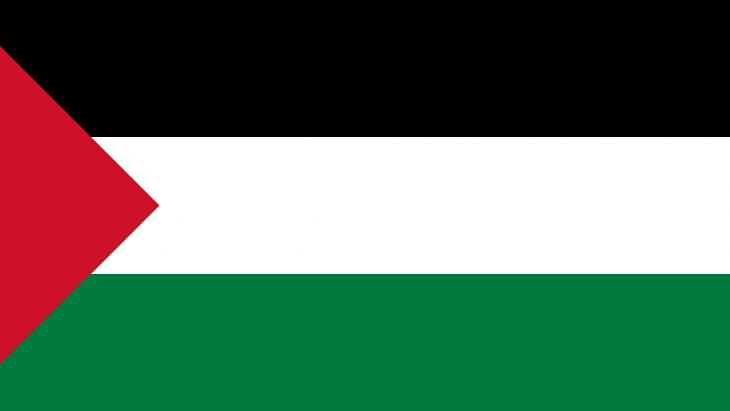 De vlag van Palestina