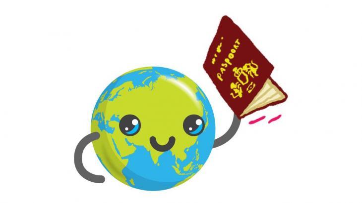 Globy met een paspoort