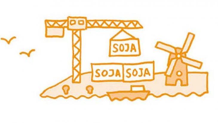 Nederland staat in Europa op de tweede plaats van soja-importeurs.