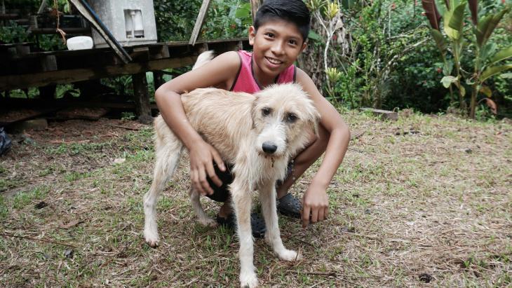 Delmonth woont in het regenwoud van Costa Rica.