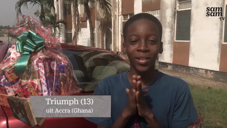 Triumph viert kerst in Ghana