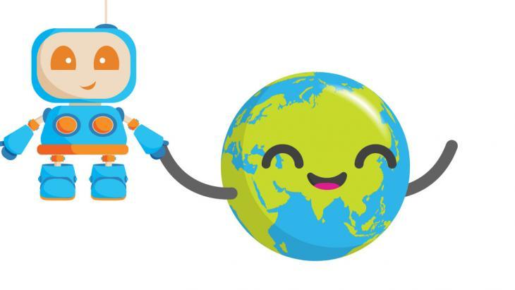 Globy met robot