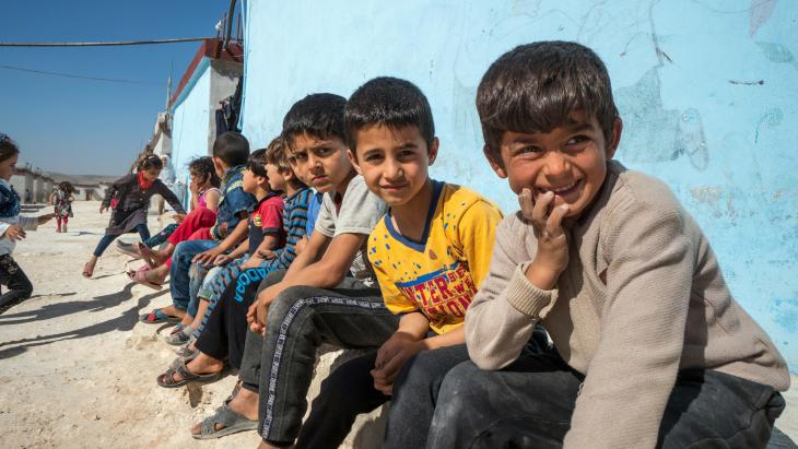 Jongens in het Syrische Idlib.