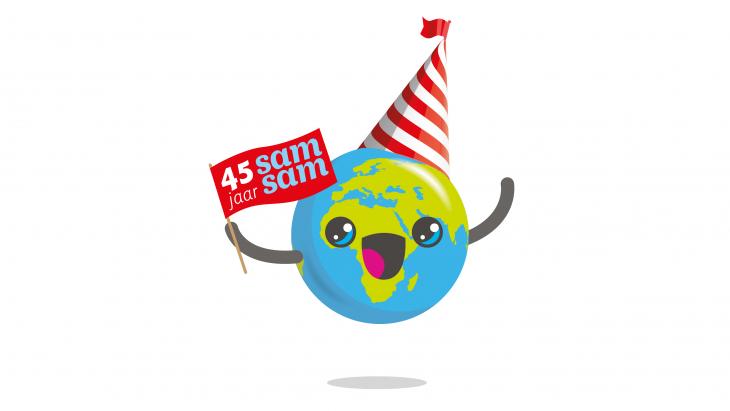 Globy viert feest, want Samsam bestaat 45 jaar.